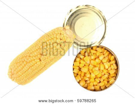 Composition of corn cop and canned.