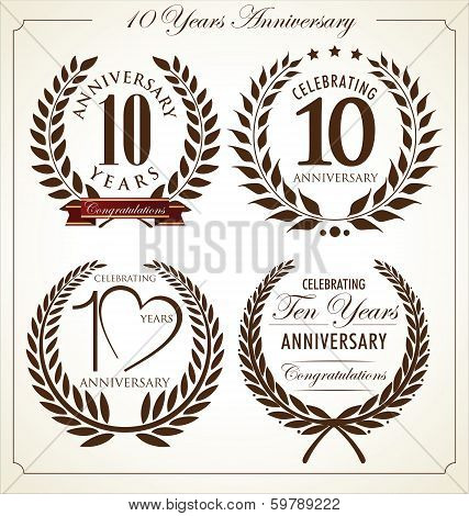 Anniversary laurel wreath, 10 years
