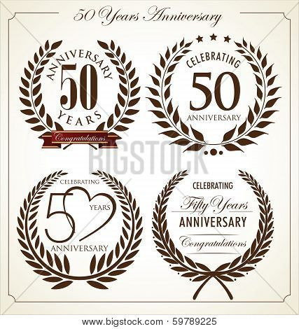 Anniversary laurel wreath, 50 years
