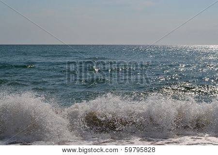 Waves Of The Black Sea, Anapa, Krasnodar Krai.