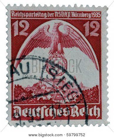 Deutsches reich postage stamp 1935