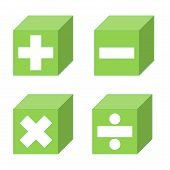 stock photo of subtraction  - Math symbols of addition - JPG