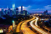 picture of petronas twin towers  - Kuala Lumpur skyline - JPG