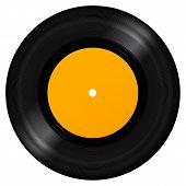 stock photo of jukebox  - Black Vinyl Record Disc - JPG