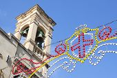 stock photo of gozo  - A church decorated for feast in Gozo Malta Europe - JPG