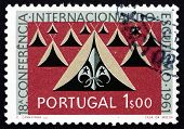 Postage Stamp Portugal 1962 Tents And Scout Emblem