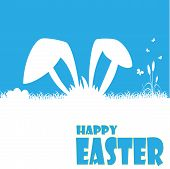 picture of happy easter  - Happy easter cards illustration with easter egg and fonts - JPG