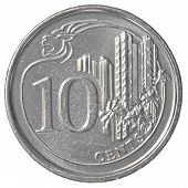 10 Singaporean Cents Coin