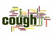 stock photo of exhale  - Cough word cloud image with hi - JPG