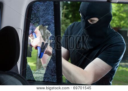 Car Thief With Crowbar