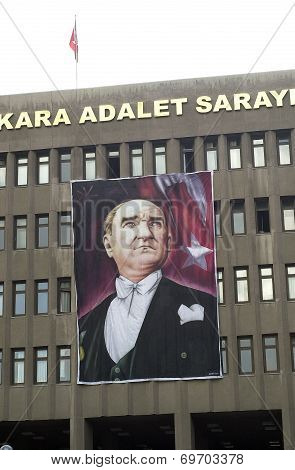 Ataturk Portrait, Ankara, Turkey