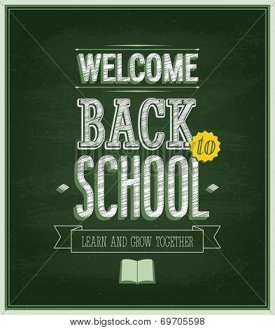 Back To School - Chalkboard.
