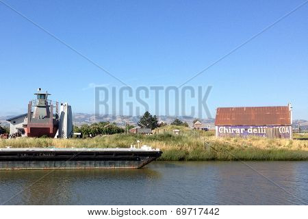 Barn on the Petaluma River, California