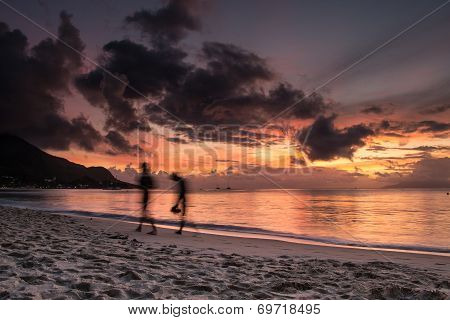Sunset at Seychelles