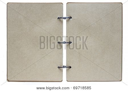 Open Notebook On A White Background