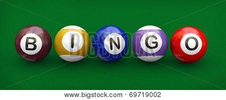 3D Billiard Pool Balls Bingo
