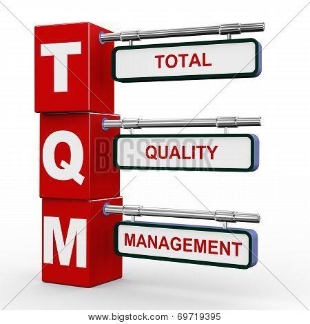 3D Modern Signboard Of Tqm