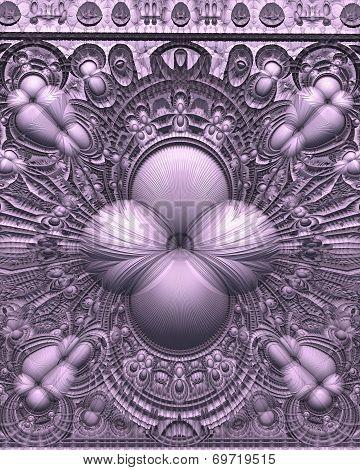 Purple Alien Frieze