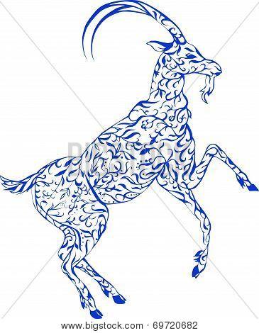 floral goat