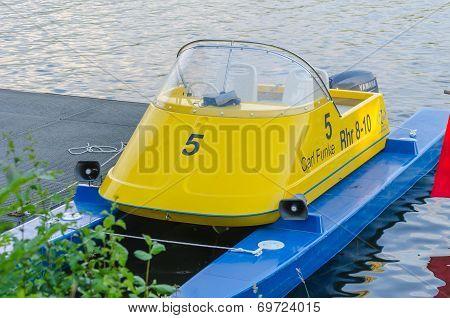 Small Catamaran Motorboat