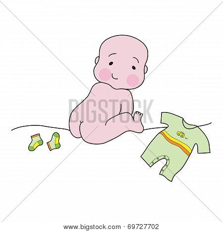 Naked Baby With Clothes