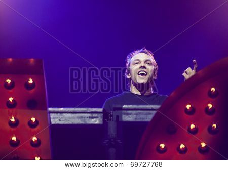 BONTIDA - JUNE 21: Dj Shiver performs live the set named Modern Disco at the main stage of the Electric Castle Festival on June 21, 2014 in the Banffy castle in Bontida, Romania