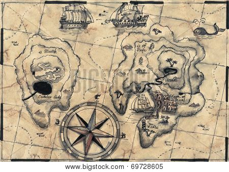 old nautical map