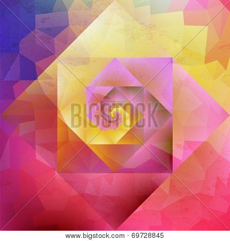 Vibrant Vintage Optic Art Geometric Pattern