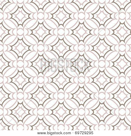 Vector Seamless Pattern, Line And Curve Vintage Style Background