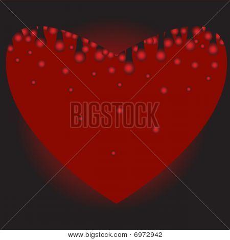 Herz bluten