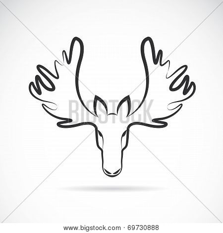 Vector Images Of Moose Deer Head