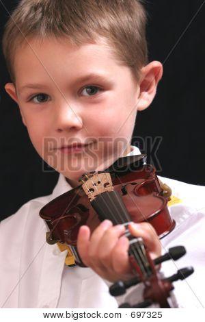 Posing With Violin