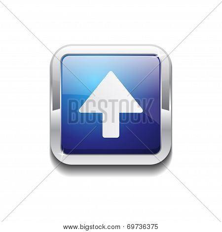 Up Key Rounded Corner Vector Blue Web Icon Button