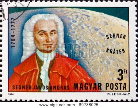 Postage Stamp Hungary 1974 Janos Andreas Segner, Naturalist