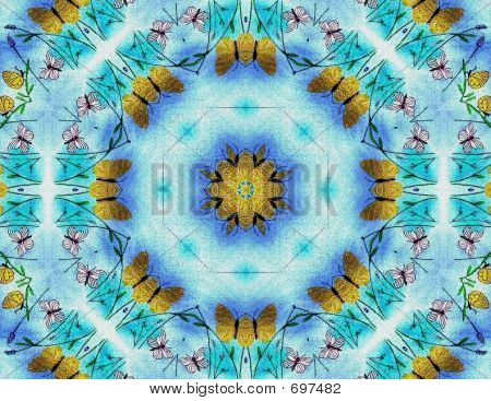 ButterfliesBlueFieldKaleidal 2