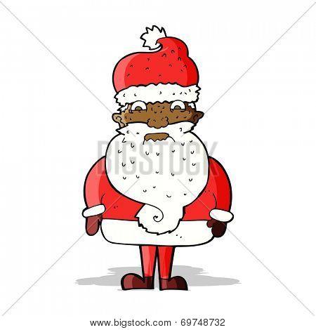 cartoon grumpy santa claus