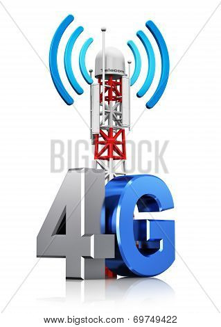 4G wireless communication concept