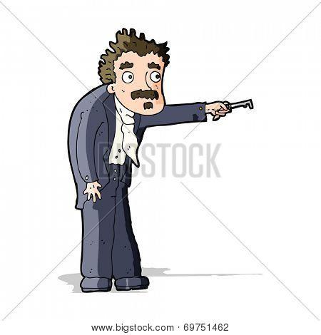 cartoon man with key