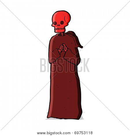cartoon spooky skeleton
