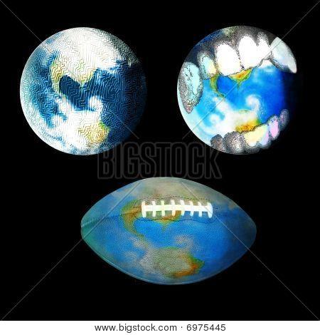 Vampire, Maze, Football Globes