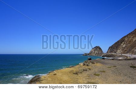 Beach Along Pch-1 At Point Mugu, CA