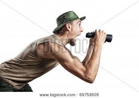 Tourist With Binocular