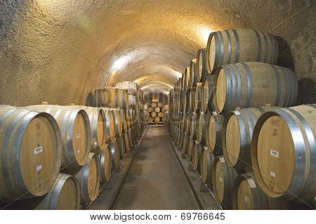 The cellars of Newton Winery in Napa Valley