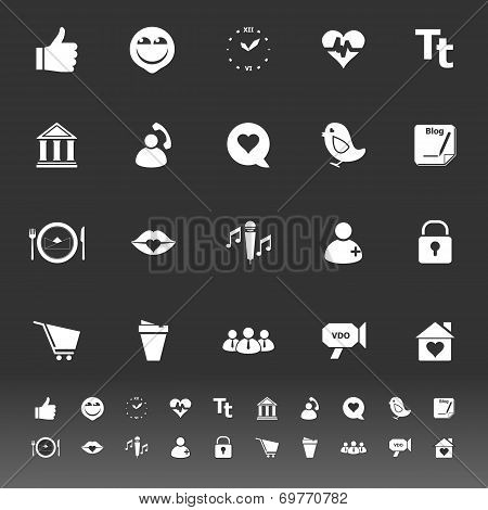Chat Conversation Icons On Gray Background