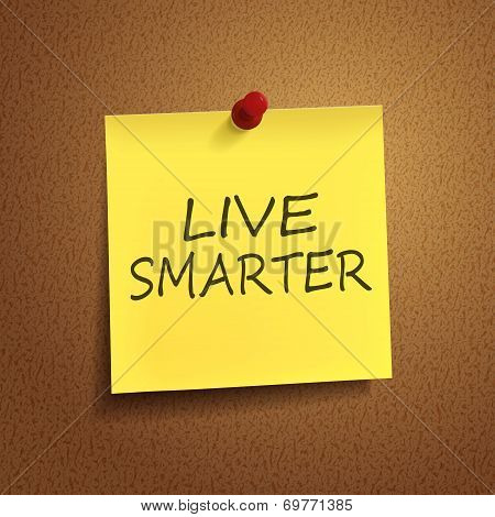 Live Smarter Words On note