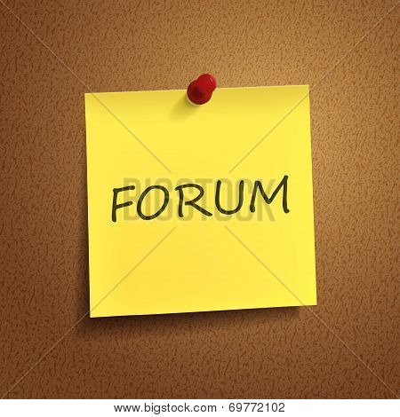 Forum Word On sticky note