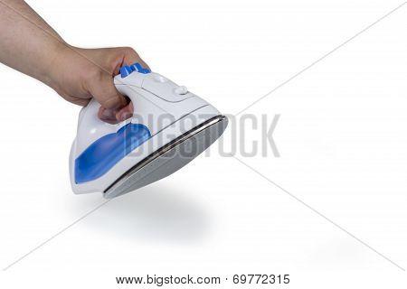 Hand Holding Flat Iron
