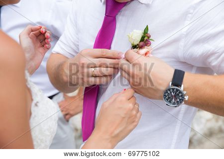 Groom and Bouttonniere