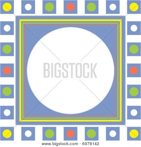 Blue Squares Frame Background
