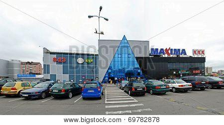 Maxima Shop Center In Vilnius City Ukmerges Street